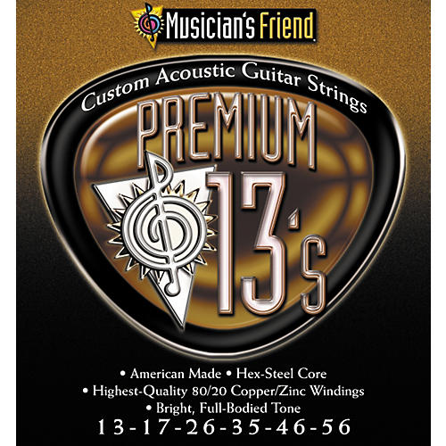 Musician's Friend Premium 13's 80/20 Medium Acoustic Guitar Strings