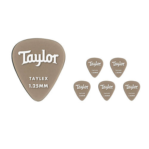 Taylor Premium 351 Taylex Picks 1.25 mm 6 Pack