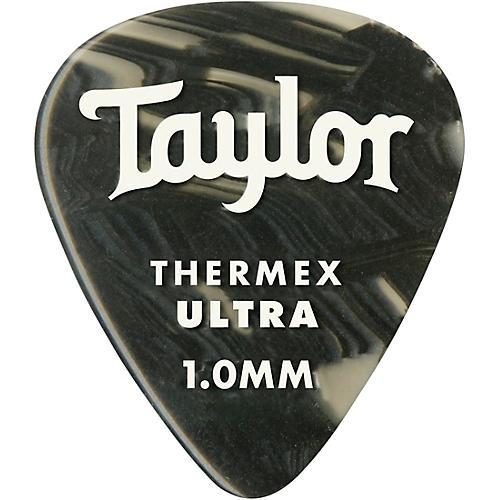 Taylor Premium 351 Thermex Ultra Picks Black Onyx 6-Pack 1.0 mm 6 Pack