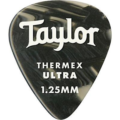 Taylor Premium 351 Thermex Ultra Picks Black Onyx 6-Pack