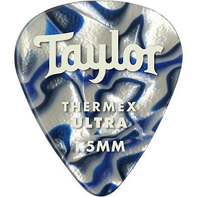 Taylor Premium 351 Thermex Ultra Picks Blue Swirl 6-Pack