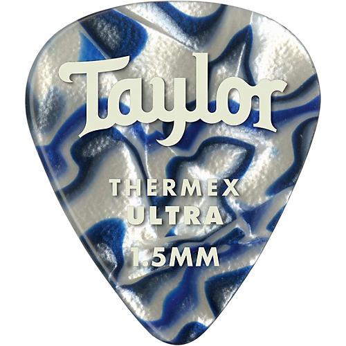 Taylor Premium 351 Thermex Ultra Picks Blue Swirl 6-Pack 1.5 mm 6 Pack