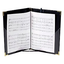 Marlo Plastics Premium Choral Folder 7-3/4 x 11 Octavo Size with Elastic String Holders - Black