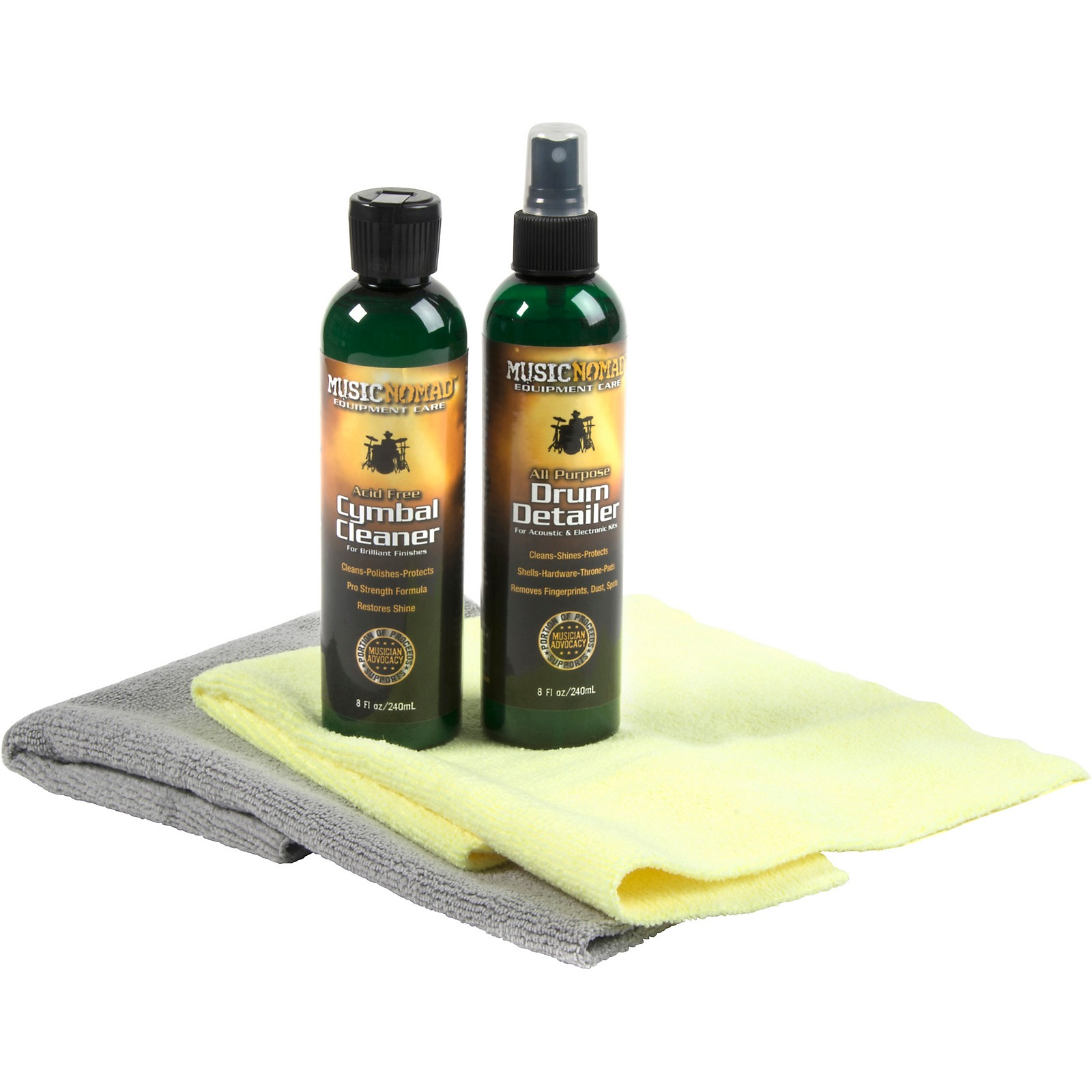 MusicNomad Premium Drum & Cymbal Care System - 4 Pack