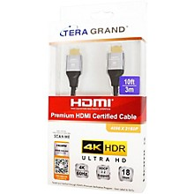 Tera Grand Premium HDMI Cable Certified 2.0 - 4K UltraHD with Aluminum Housing