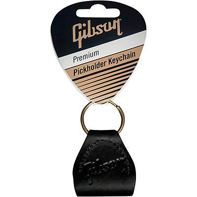 Gibson Premium Leather Pickholder Keychain