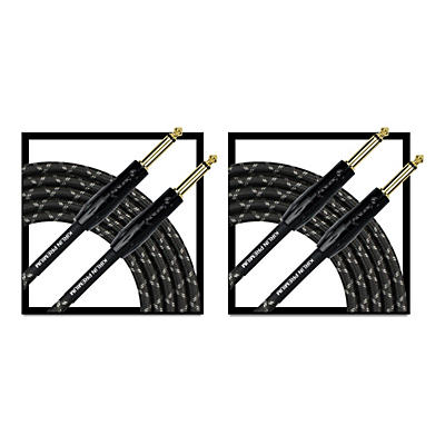 KIRLIN Premium Plus Instrument Cable 20' - 2-Pack