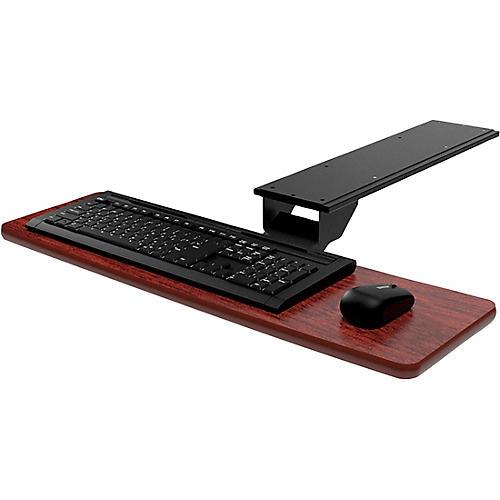 Omnirax Presto Computer Keyboard Shelf - Only Mahogany