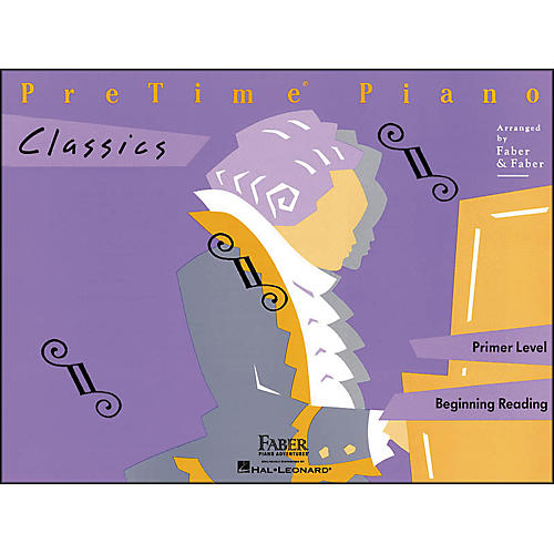 Faber Piano Adventures Pretime Piano Classics Book Primer Level for Beginning Reading - Faber Piano