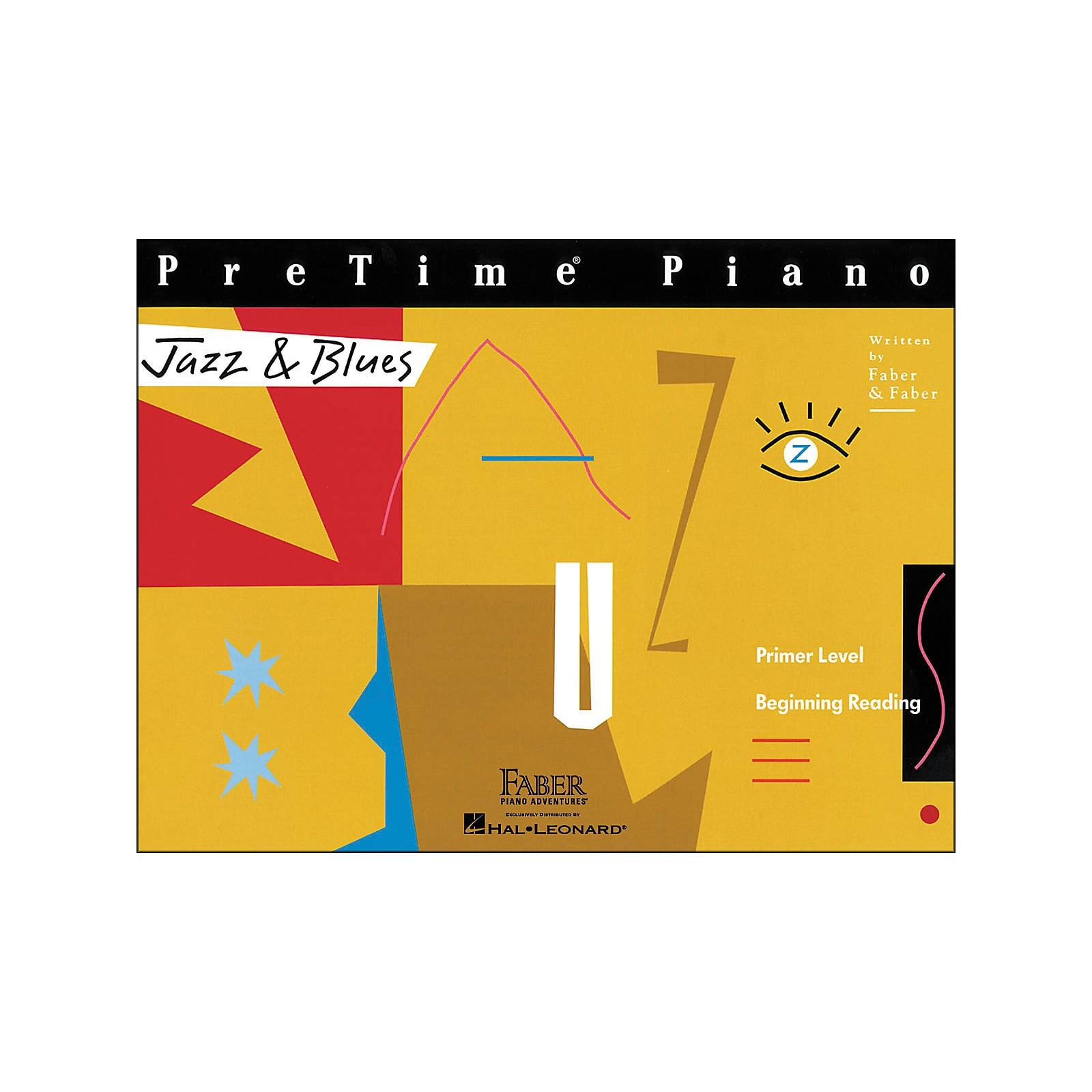 Faber Piano Adventures Pretime Piano Jazz & Blues Book Primer Level Beginning Reading - Faber Piano