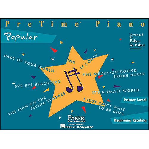 Faber Piano Adventures Pretime Popular Primer/Beginning Reading