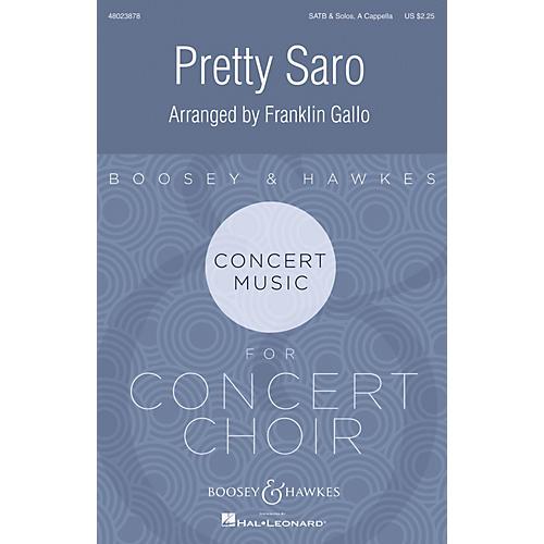Boosey and Hawkes Pretty Saro SATB a cappella arranged by Franklin Gallo