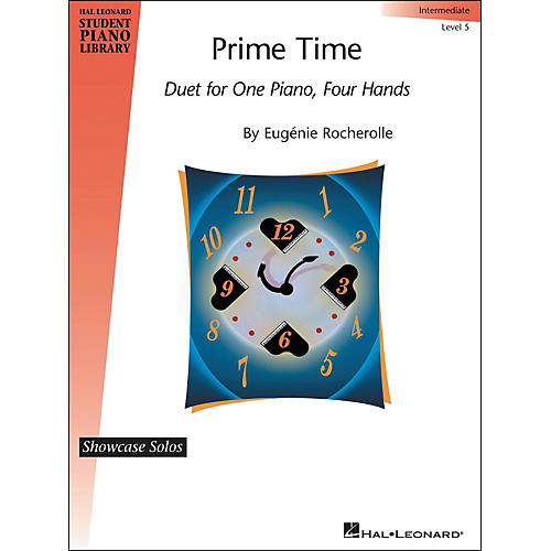 Hal Leonard Prime Time - Intermediate Duet Sheet - 1 Piano, 4 Hands Hal Leonard Student Piano Library by Eugenie Rocherolle