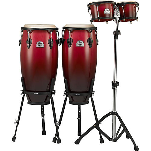 Pearl Primero Wood Conga and Bongos With Hardware