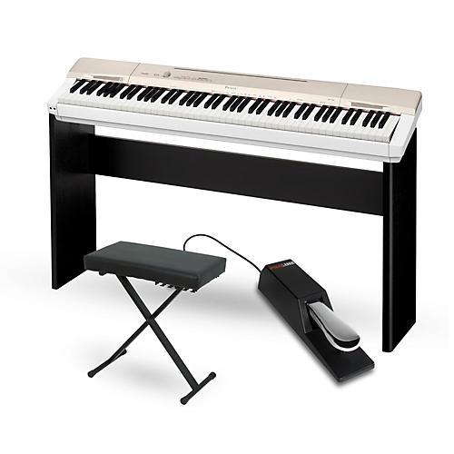casio privia px 160gd digital piano with cs 67 stand sustain pedal and deluxe keyboard bench. Black Bedroom Furniture Sets. Home Design Ideas