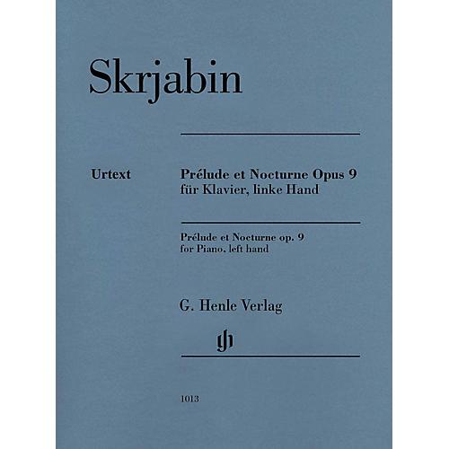G. Henle Verlag Prélude et Nocturne, Op. 9 Henle Music Folios Composed by Alexander Scriabin Edited by Valentina Rubcova