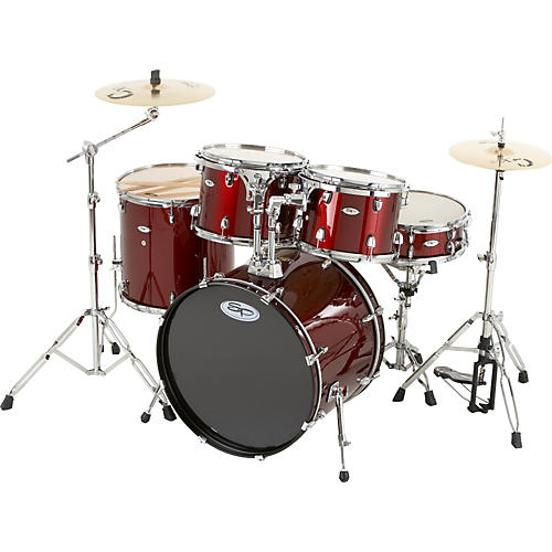 Sound Percussion Labs Pro 5-Piece Drum Set with Cymbals