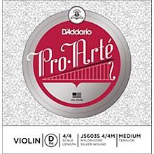 Pro-Arte Series Violin D String 4/4 Size Medium Silver