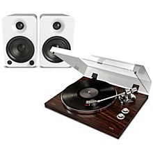 Pro BT500 Record Player Package with Kanto YU4 Powered Speakers Matte White