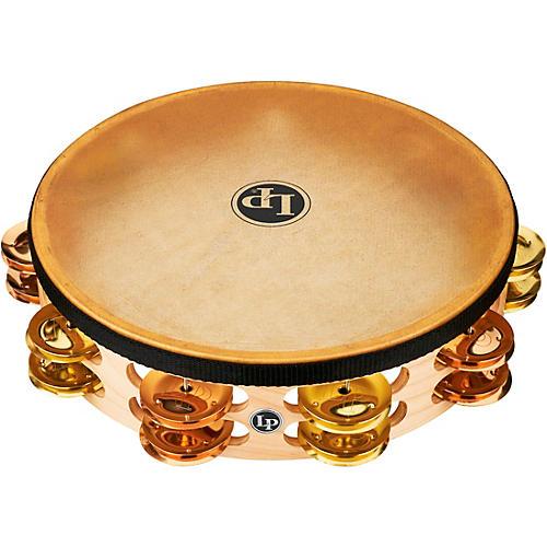 LP Pro Double Row Headed Tambourine 10 in. Brass/Bronze