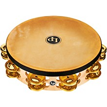 Pro Double Row Headed Tambourine 10 in. Brass