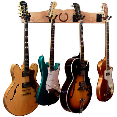 A&S Crafted Products Pro-File Wall Mounted 4 Guitar Hanger