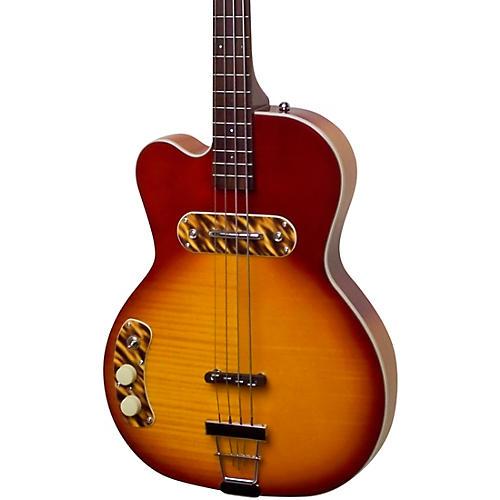 Kay Vintage Reissue Guitars Pro Left-Handed Electric Bass Honey Sunburst