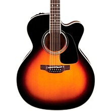 Open Box Takamine Pro Series 6 Jumbo Cutaway 12-String Acoustic-Electric Guitar
