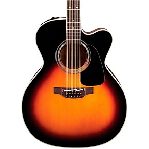takamine pro series 6 jumbo cutaway 12 string acoustic electric guitar sunburst musician 39 s friend. Black Bedroom Furniture Sets. Home Design Ideas