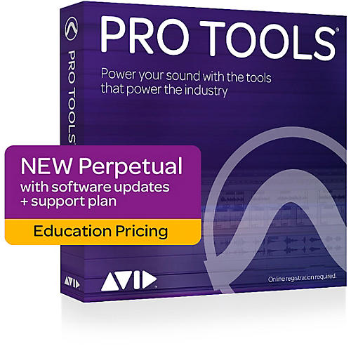 Avid Pro Tools 2018 with 1-Year of Updates + Support Plan Teachers/College Student(Boxed)