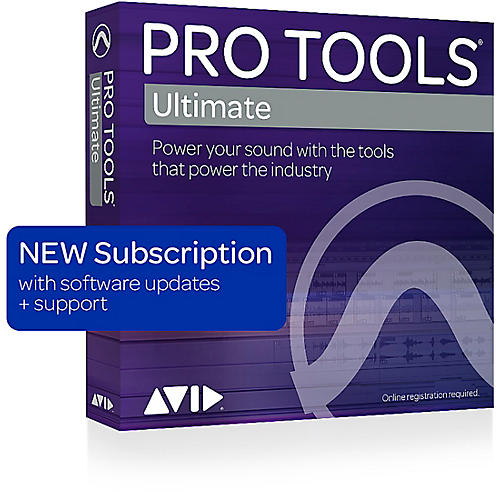 Avid Pro Tools | Ultimate with 1-Year of Updates + Support Plan 1-Year Subscription (Boxed)