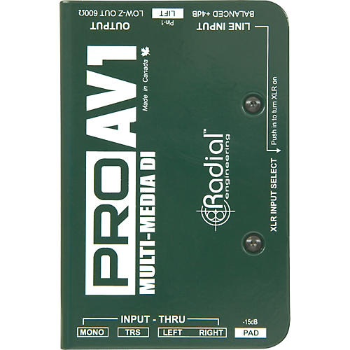 Radial Engineering ProAV1 Single-Channel Direct Box Condition 1 - Mint