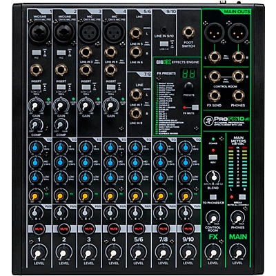 Mackie ProFX10v3 10-Channel Professional Effects Mixer with USB
