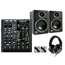Mackie ProFXv3 Podcast Bundle with CR3 Monitors & MC-150 Headphones