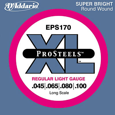 D'Addario ProSteels EPS170 Regular Light Long Scale Bass Strings