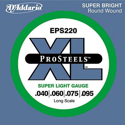 D'Addario ProSteels EPS220 Super Light Gauge Long Scale Bass Strings