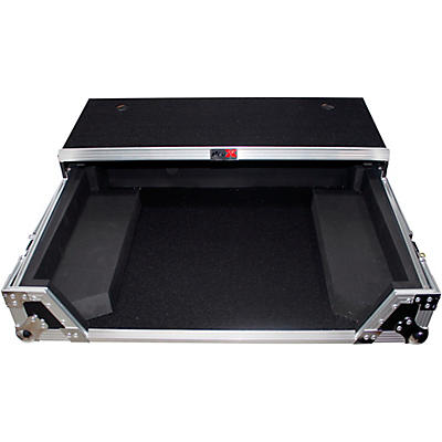 ProX ProX XS-DJ808WLT Flight Case for Roland DJ-808 or Denon MC7000 Digital Controller W-Wheels and Sliding Laptop Shelf