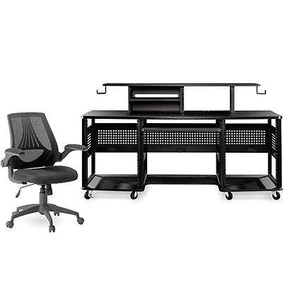 Studio RTA Producer Station Black and Mesh Managers Office Chair Bundle