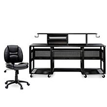 Studio RTA Producer Station Black and Task Chair DuraPlush Bundle
