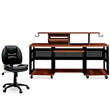 Studio RTA Producer Station Cherry and Task Chair DuraPlush Bundle