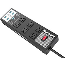 Numark Production Hub, Professional-Grade Power Strip With Integrated USB 3.0 Hub