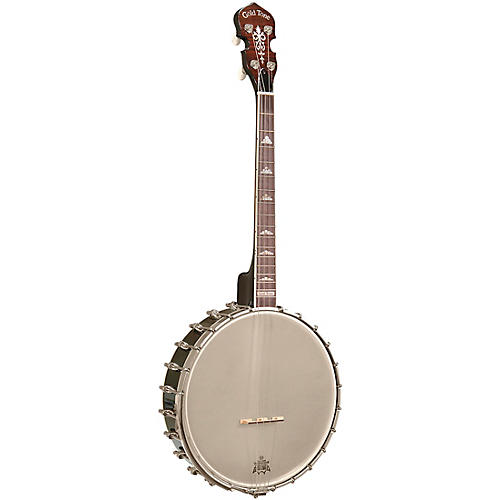 Gold Tone Professional 4-String Irish Tenor Openback Banjo For Left Hand Players Vintage Brown