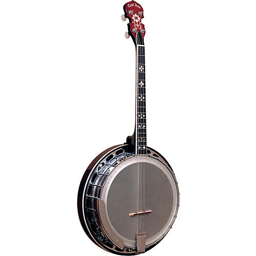 Gold Tone Professional 4-String Irish Tenor Resonator Banjo with Flange For Left Hand Players Vintage Brown