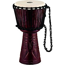 Professional African Style Djembe African Queen Carving 10 in.