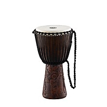 Professional African Style Djembe Village Carving 10 in.