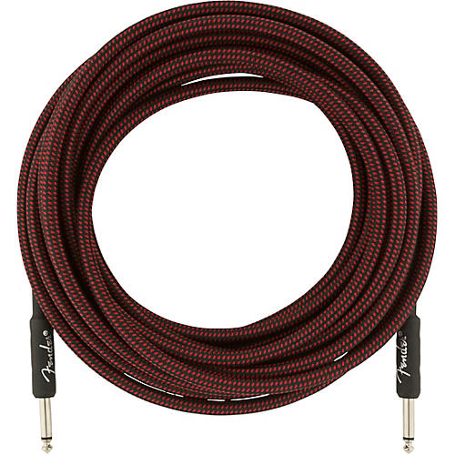 Fender Professional Series Straight to Straight Instrument Cable 25 ft. Red Tweed