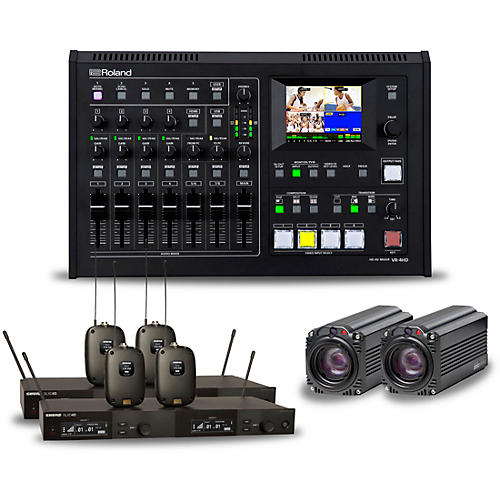 Roland Professional Steamer Bundle with Dual Shure Wireless and BC-80 Camera
