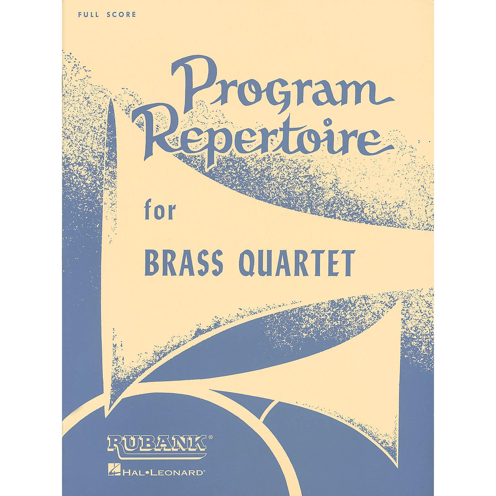 Rubank Publications Program Repertoire for Brass Quartet (Full Score) Ensemble Collection Series by Various