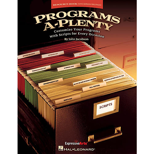 Hal Leonard Programs A-Plenty (Customize Your Programs With Scripts for Every Occasion) RESOURCE BK