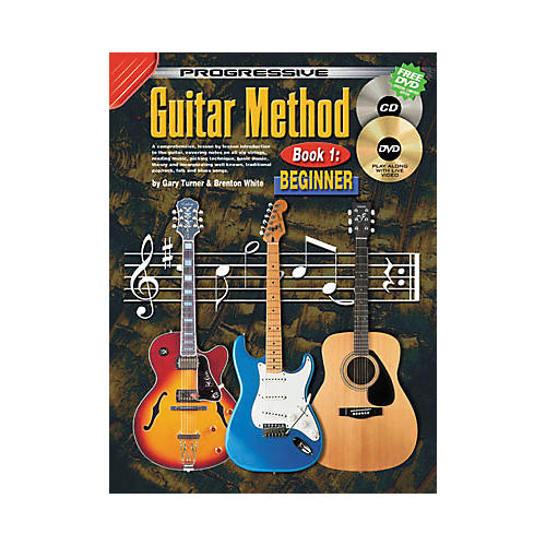 Koala Music Progressive Guitar Method Book 1: Beginner (Book/CD/DVD)